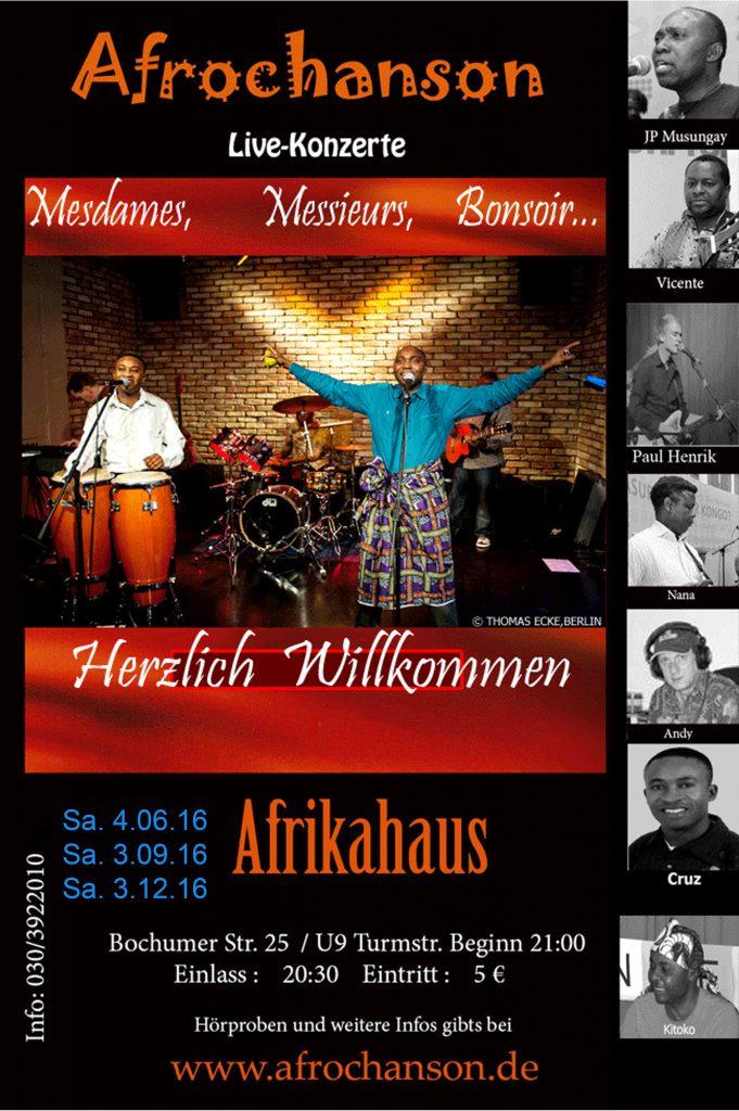 Plakat Afrochanson